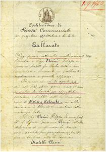 Atto Costitutivo 1900   Tintoria Clerici